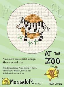 Mouseloft Zebra At The Zoo cross stitch kit